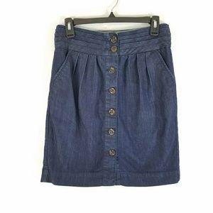 Pilcro and the Letterpress Denim Skirt